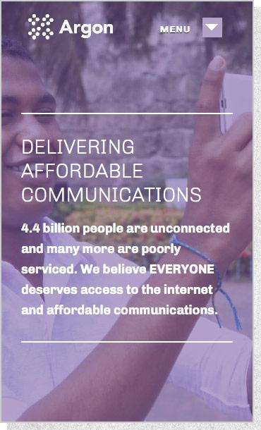 Argon Telecom | Mobile Screen